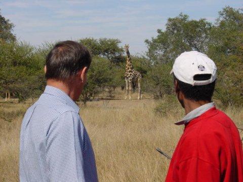 Arik and Craig in the South African Bushveldt